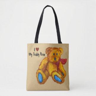 Bolsa Tote Eu amo meu urso de ursinho