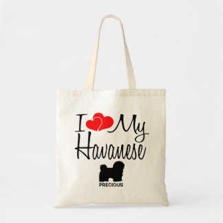 Bolsa Tote Eu amo minha sacola do cão de Havanese