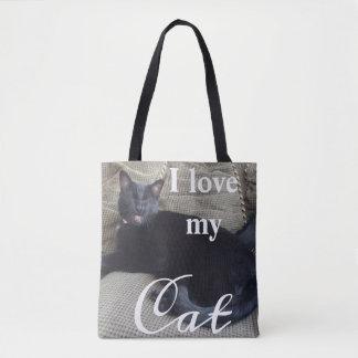 Bolsa Tote Eu amo minha sacola do gato