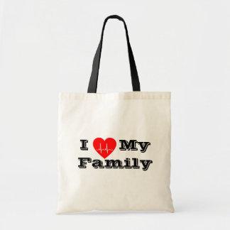 Bolsa Tote Eu amo minha sacola feita sob encomenda do coração
