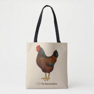 Bolsa Tote Eu amo minhas galinhas de Barnevelder
