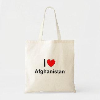 Bolsa Tote Eu amo o coração Afeganistão