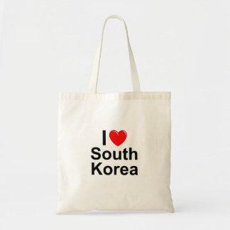 Bolsa Tote Eu amo o coração Coreia do Sul