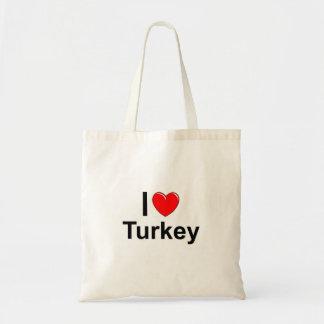 Bolsa Tote Eu amo o coração Turquia