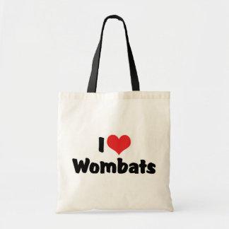 Bolsa Tote Eu amo o coração Wombats