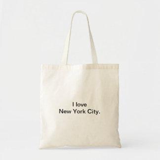 Bolsa Tote Eu amo o design da Nova Iorque