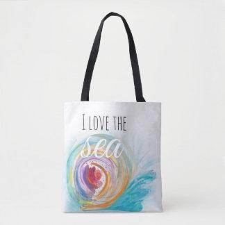 Bolsa Tote Eu amo o mar!