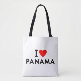 Bolsa Tote Eu amo o país de Panamá como o turismo do viagem