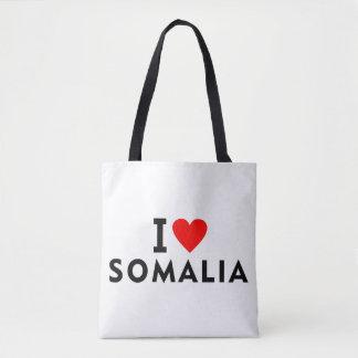 Bolsa Tote Eu amo o país de Somália como o turismo do viagem