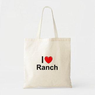 Bolsa Tote Eu amo o rancho do coração