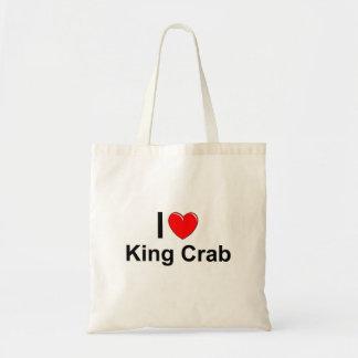Bolsa Tote Eu amo o rei caranguejo do coração