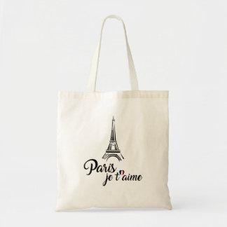 Bolsa Tote Eu amo o t'aime de Paris Je