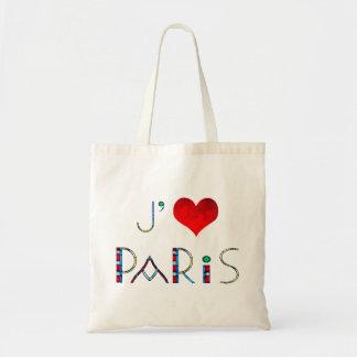 Bolsa Tote Eu amo Paris no vitral de Notre Dame