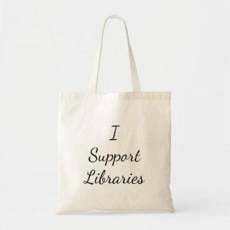 Bolsa Tote Eu apoio bibliotecas! Sacola