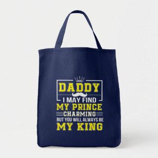 Bolsa Tote Eu encontro o príncipe encantar você sempre pai
