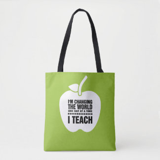 Bolsa Tote Eu ensino. As sacolas dos professores de ensino