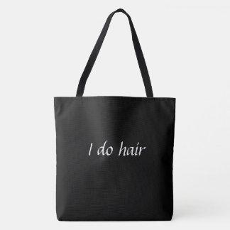 Bolsa Tote Eu faço a sacola do cabelo