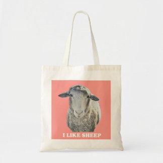 Bolsa Tote Eu gosto da sacola Funky dos carneiros