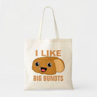 Bolsa Tote Eu gosto de Bundts grande
