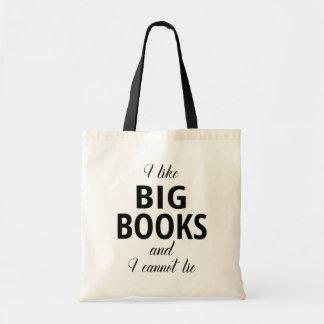 Bolsa Tote Eu gosto de livros grandes e eu não posso