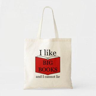 Bolsa Tote Eu gosto do leitor ávido grande dos livros