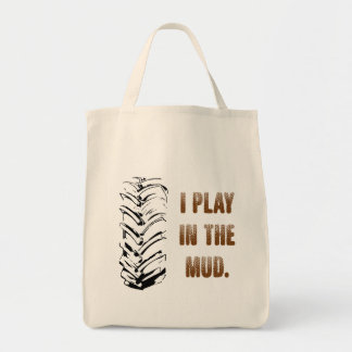 Bolsa Tote Eu jogo na sacola da lama