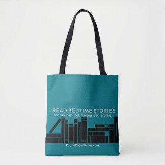 Bolsa Tote Eu li histórias de horas de dormir (o bolsa)