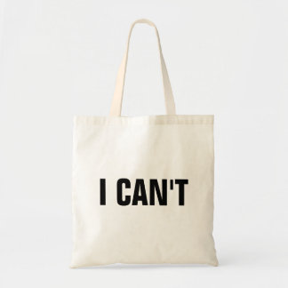 Bolsa Tote Eu não posso