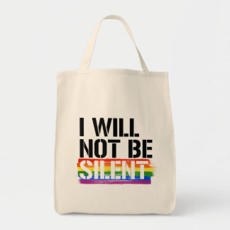 Bolsa Tote Eu não serei - - os direitos silenciosos de LGBTQ