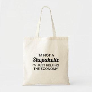 Bolsa Tote Eu não sou um saco de Shopaholic
