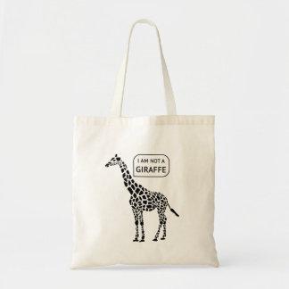 Bolsa Tote Eu não sou uma sacola do girafa