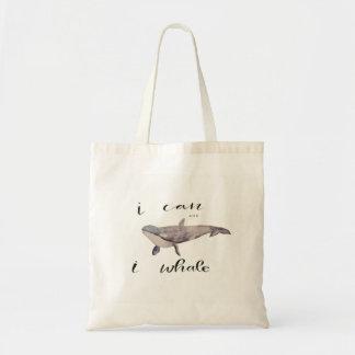 Bolsa Tote Eu podem e a baleia de I