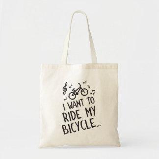 Bolsa Tote Eu quero montar minha bicicleta