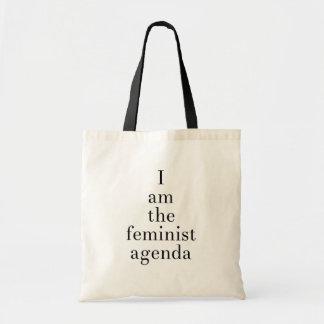 Bolsa Tote Eu sou a agenda feminista (o grande serif)