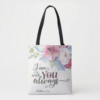 Bolsa Tote Eu sou com você sempre por todo o lado na sacola