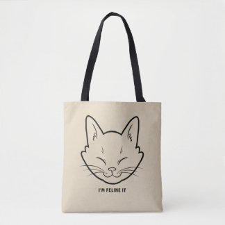Bolsa Tote Eu sou felino ele