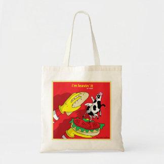 Bolsa Tote Eu sou Leavin ele - vai o saco do Vegan