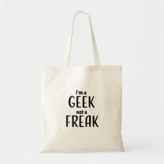 Bolsa Tote Eu sou um geek não um anormal