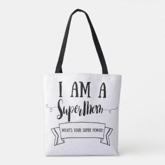 Bolsa Tote Eu sou um Supermom