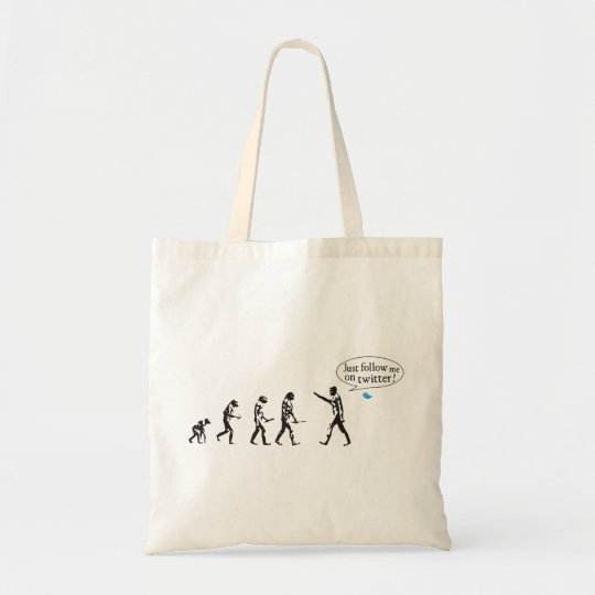 Bolsa Tote Evolution - Just follow me on twitter