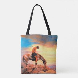 Bolsa Tote Extremidade da sacola do nativo americano da fuga