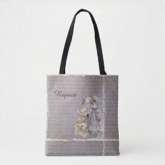 Bolsa Tote Exulte a sacola do impressão da arte do vintage