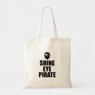 Bolsa Tote Eyepatch do pirata do olho do brilho. Texto escuro