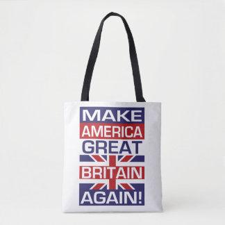 Bolsa Tote Faça América Grâ Bretanha outra vez!