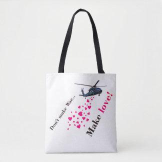 Bolsa Tote Faça amor, não faça guerra!