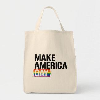 Bolsa Tote Faça o gay de América - - os direitos de LGBTQ -