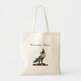 Bolsa Tote Falcão heráldico da caça que veste a capa C do