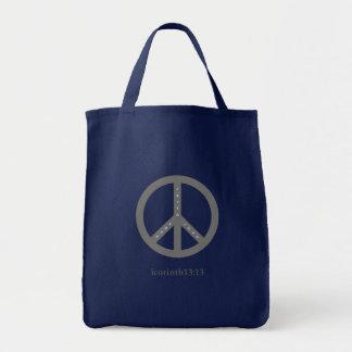 Bolsa Tote Fé, esperança, e sacola do mantimento do amor