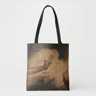 "Bolsa Tote ""Fé"" toda sobre - imprima a sacola"