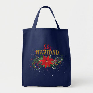 Bolsa Tote Feliz Natal no Felis espanhol Navidad